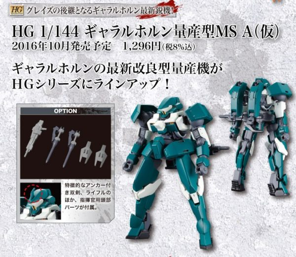 HG 1/144 Gjallarhorn Mobile Suit Unit A
