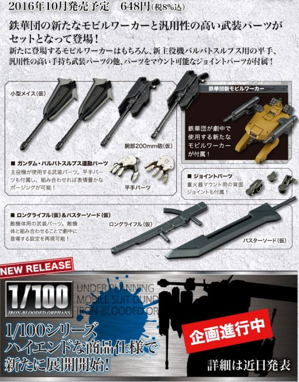 HG 1/144 Weapon Extension and Mobile Pod