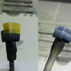 Hier demonstriert er wie einfach und schnell man auch während der Arbeit mit der Airbrushpistole einzelne Bauteile abkleben kann. ACHTUNG! Das geht nur mit sehr schnell trocknenden Farben ( meist auf Basis von Lösungsmitteln, achet auf eure Masken! )